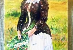 Kobieta z jesiennym bukietem - wg.I.Riepina