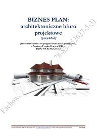 BIZNESPLAN architektoniczne biuro projektowe 2019 (przykład)