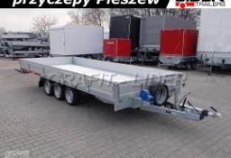 TM-185 przyczepa 507x211x30cm, Carplatform 5121/3S, 3 osiowa, laweta, platforma, podłoga aluminiowa, burty aluminiowe, DMC 3500kg