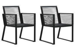 vidaXL Krzesła ogrodowe, 2 szt., czarne, rattan PVC48572
