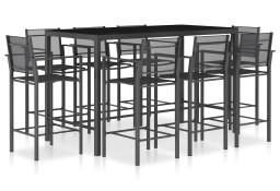 vidaXL 9-cz. zestaw mebli barowych, tworzywo textilene, antracytowy49245