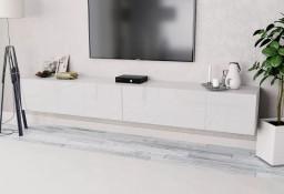 vidaXL Białe szafki pod telewizor, 2 szt., 120x40x34 cm, płyta wiórowa 275113