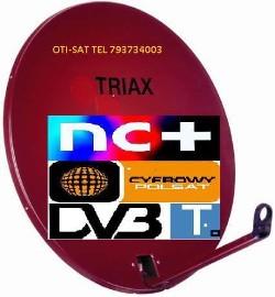 Brzeg Grodków Nysa Ziębice montaż anten satelitarnych tel 793734003
