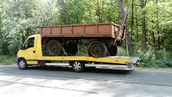 Transport pługów Kałuszyn laweta przewóz rozrzutników Kałuszyn laweta