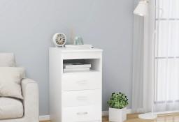 vidaXL Komoda, biała, 40x50x76 cm, płyta wiórowa801805