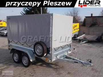 NP-102 przyczepa + plandeka 263x129x140cm, N7-263 2 RT, lekka, dwuosiowa, DMC 750kg