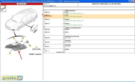 6208J4 REFLEKTOR/PRZECIWMGIELNY/HALOGEN C5 X7 2008 - PROMOCJA Citroen C5
