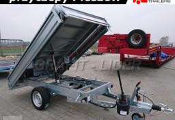 TM-089 przyczepa Tipper 2515, 254x153x30cm, kipper, wywrotka kiprowana ręcznie, burty stalowe, DMC 1500kg