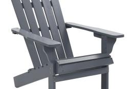 vidaXL Fotel ogrodowy, drewniany, szary 45702