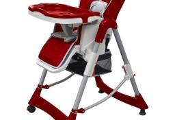 vidaXL Luksusowe krzesełko do karmienia, regulacja wysokości, czerwone10064