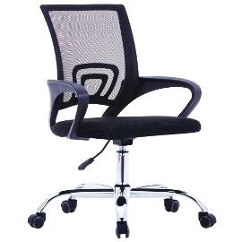 vidaXL Krzesło biurowe z siatkowym oparciem, czarne, tkanina 20183