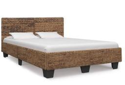 vidaXL Rama łóżka, naturalny rattan, 140 x 200 cm 283094