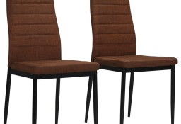 vidaXL Krzesła stołowe, 2 szt., brązowe, tkanina246183