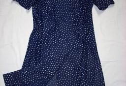 Sukienka Zapinana dwurzędowo groszki 40 42