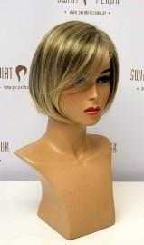 Peruka półdługa z włosów syntetycznych w kolorze blondu Łódź
