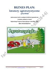 BIZNESPLAN kwatery agroturystyczne (przykład)