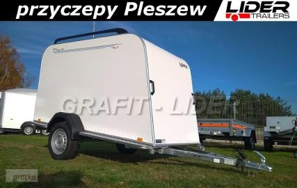 TP-040 przyczepa Mini Cargo, 253x110x125 cm, furgon izolowany, kontener, DMC 750kg