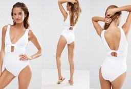 (40) ASOS/ Ekskluzywny, biały , jednoczęściowy strój kąpielowy z Londynu/ NOWY z metką