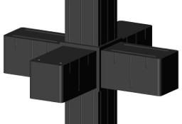 Łącznik plastikowy do profili aluminiowych typ G czarny, 20x20x1,5