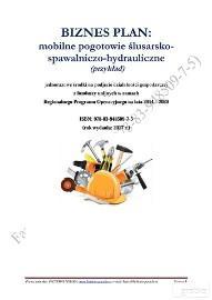 BIZNESPLAN mobilne pogotowie ślusarsko-spawalniczo-hydrauliczne