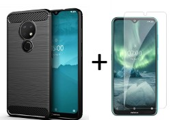 Etui pancerne + szkło do Nokia 6.2 / 7.2 czarny