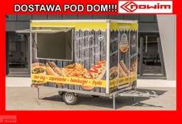 25.18.105 Nowim Przyczepa gastronomiczna handlowa 1 oś hamowana DMC 750 1 osiowa 1 okno kontener izoterma izolowana wystawowa targowa ...
