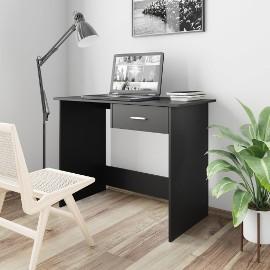 vidaXL Biurko, czarne, 100x50x76 cm, płyta wiórowa800550