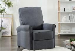 vidaXL Rozkładany fotel telewizyjny, ciemnoszary, tapicerowany tkaniną248667
