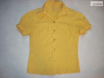 TANKO super bluzka KOSZULA żółta 34 36 XS S