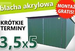 Garaż blaszany blaszak 3.5x5m konstrukcja ocynkowana