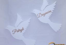 Gołębie - dekoracje na Pierwszą Komunię, ozdoby komunijne, styropianowe