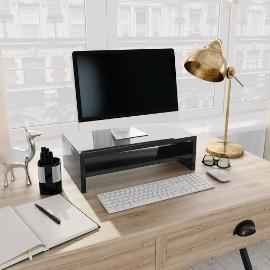 vidaXL Podstawka pod monitor, wysoki połysk, czarny, 42x24x13 cm800223