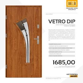 Drzwi zewnętrzne stalowe SETTO model VETRO DIP CLASSICO