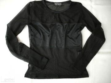 Czarna Bluzka Ażur Siateczka J Nowa 34 XS