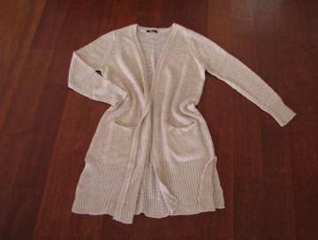 Kardigan, blezer, tunika, narzutka, długi sweter z kieszeniami XL