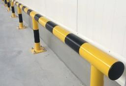 Zabezpieczająca barierka odbojnica prosta liniowa
