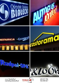 Reklama świetlna LITERY ŚWIECĄCE Kaseton plexi dibond 3D