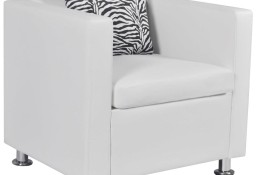 vidaXL Fotel, biały, sztuczna skóra242213