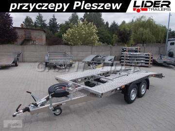 LT-067 przyczepa 400x200cm, laweta aluminiowa, przód prosty + tył ścięty, DMC 2400kg
