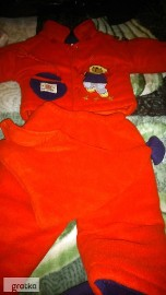 kurtka zimowa chłopięca z kapturem spodniami 74 80 komplet