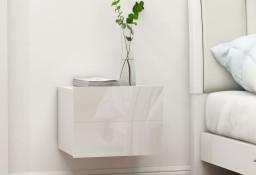 vidaXL Szafka nocna, biała, wysoki połysk, 40x30x30 cm, płyta wiórowa 801065