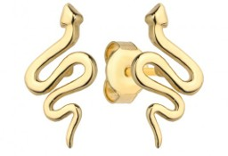 Kolczyki złote węże pr. 585