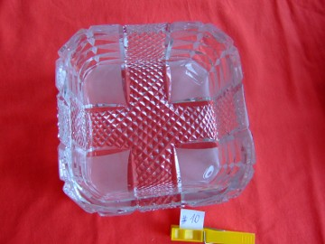 Nr 10 Misa kryształowa miseczka kryształ kwadratowa PRL
