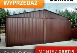 Garaż blaszany dwustanowiskowy w kolorze ciemny brąz mocna konstrukcja