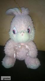 maskotka pluszak króliczek różowy zabawka pluszowa
