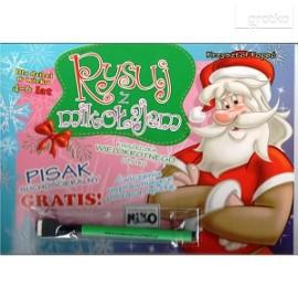Rysuj z Mikołajem + Pisak suchościeralny