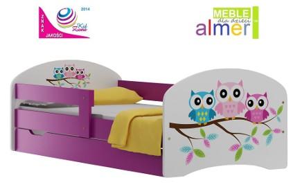 łóżko dla dziecka 140x70 z szufladą i bajkowym nadrukiem