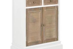 vidaXL Komoda, biała, 60x30x80 cm, lite drewno 280074