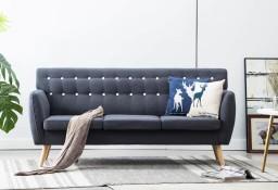 vidaXL 3-osobowa sofa tapicerowana tkaniną, 172x70x82 cm, ciemnoszara247125