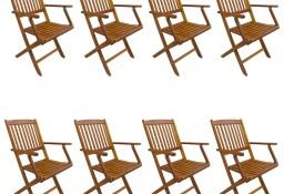 vidaXL Składane krzesła ogrodowe, 8 szt., lite drewno akacjowe 276358